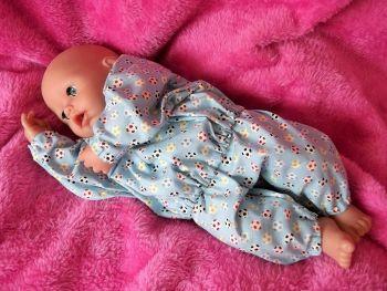 Blue Football Pyjamas for Boy Baby Dolls - Size 2