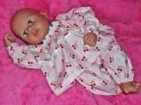 Pink Cherry Pyjamas for Baby Dolls