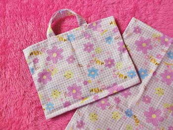 Lilac Wishes Changing Bag and Mat for Baby Dolls