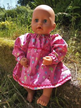 Magical Toadstool Dress for Baby Dolls