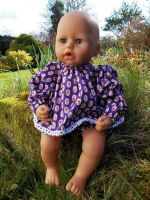 Purple Angel Top & Pants Set for Baby Dolls
