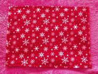 Red Snowflakes Fleece Blanket for Doll's Cot or Pram
