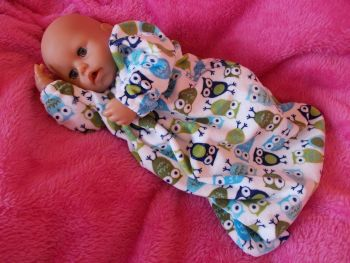 Owl Print Snuggly Sleepsuit for Boy Baby Dolls