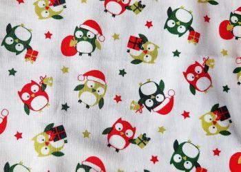 Christmas Owls Nightie for Baby Dolls