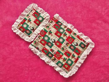 Patchwork Christmas Bedding Set for Doll's Cot or Pram