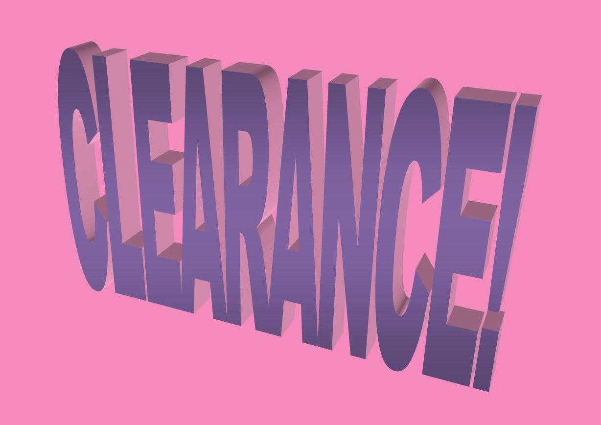 Text on a pink background