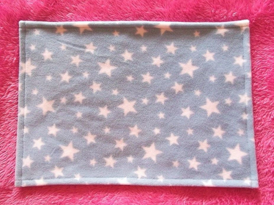 Blue Starry Night Fleece Blanket for Doll's Cots and Prams - Ex-Demo