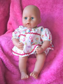 Easter Bunnies Angel Top and Pants Set for Baby Dolls