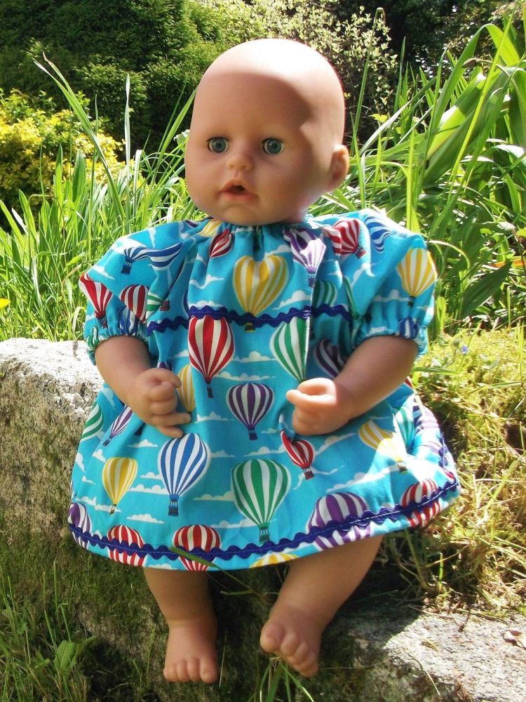 Hot Air Balloons Dress for Baby Dolls