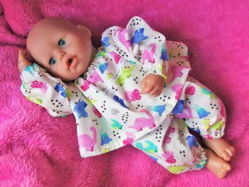 Playful Dino Pyjamas for Baby Dolls