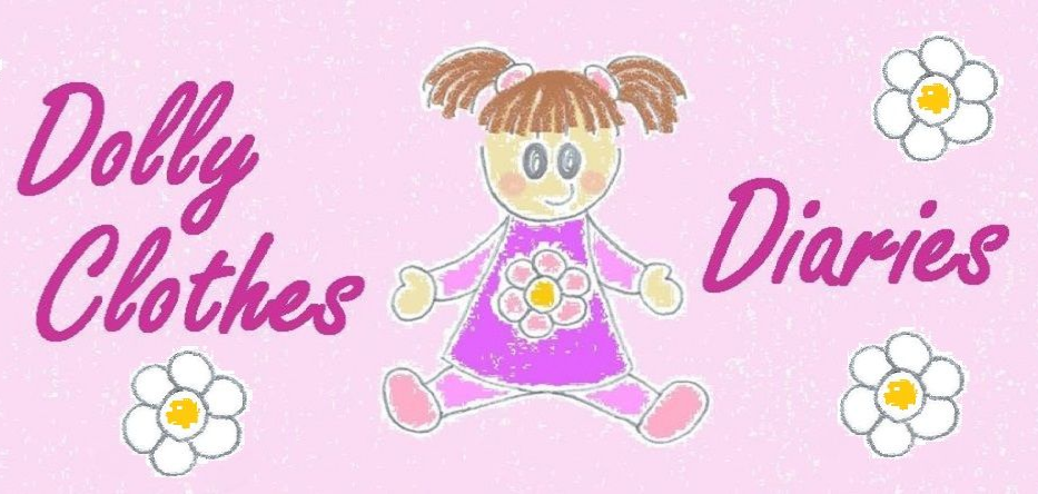Cartoon doll on pink background with flowers and text