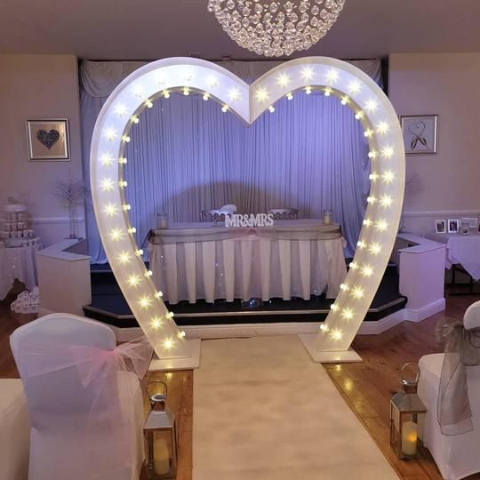 Love Heart Arch, Light Up Arch, Wedding Aisle Decor, Twinkle Backdrop