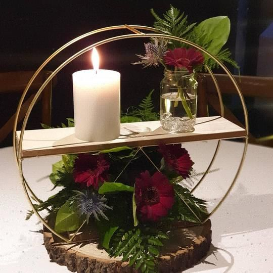 Centrepiece Circle with Fresh flowers