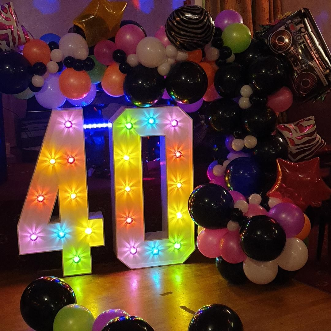 40 Light Up LED Numbers