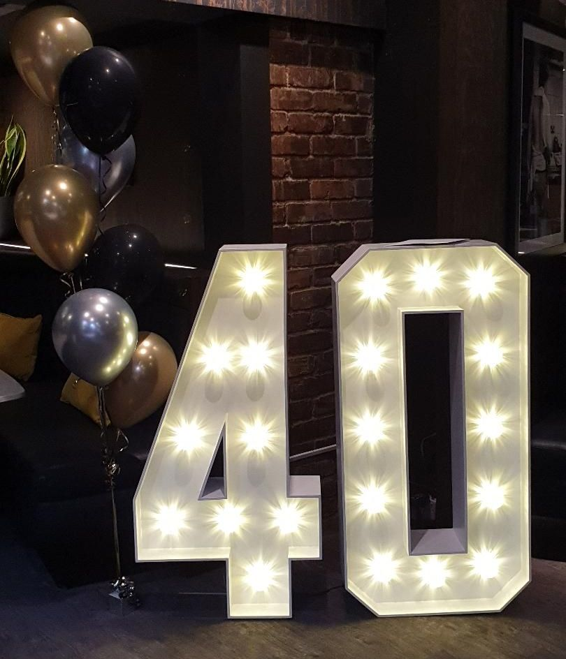 LED Light Up Numbers 40 Lights