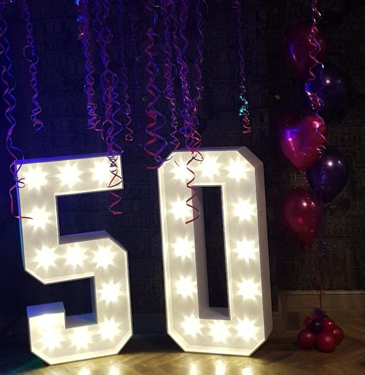 Light Up Numbers 50th Birthday