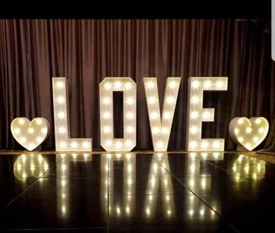 love lights light up letters wedding lights LED love marquee
