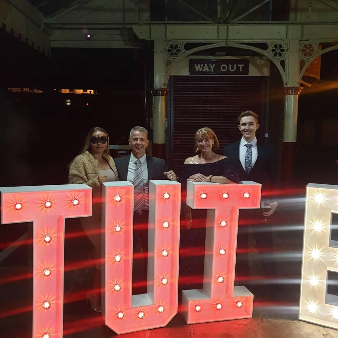 Large Light Up letters for TUI Charity Event