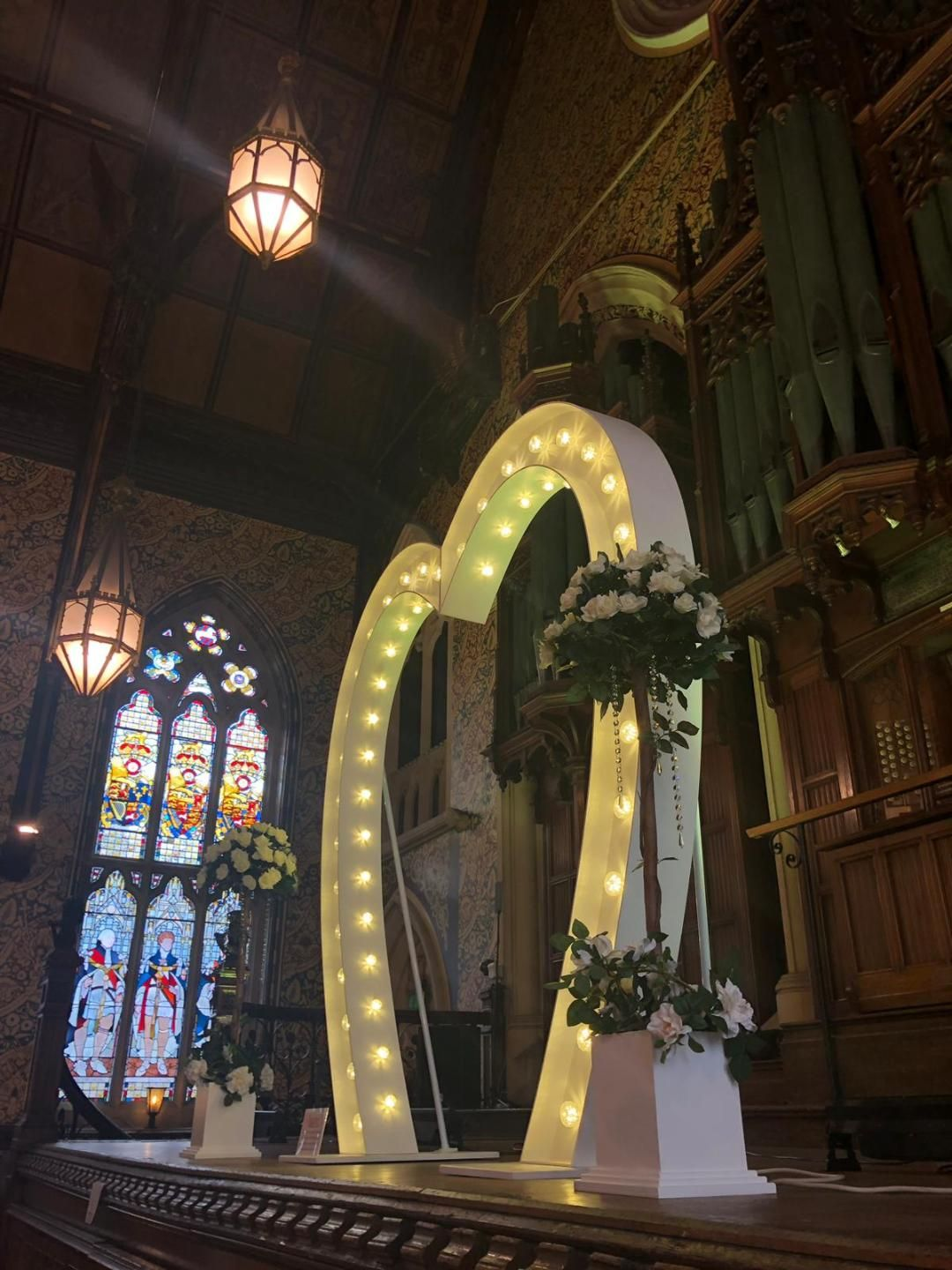 Large Love Heart Arch at Rochdale Town Hall
