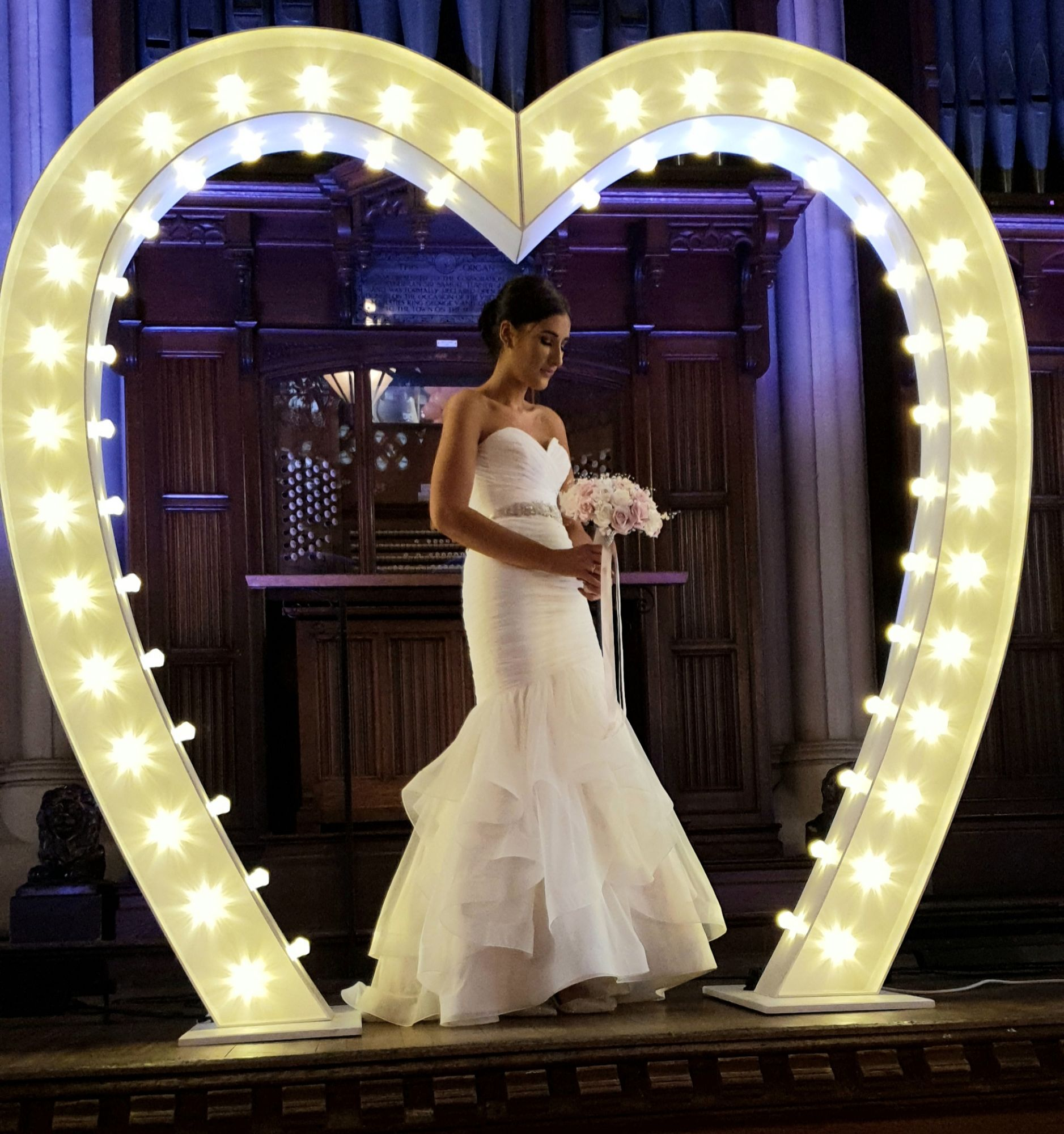 Large Love Heart Arch with Bride