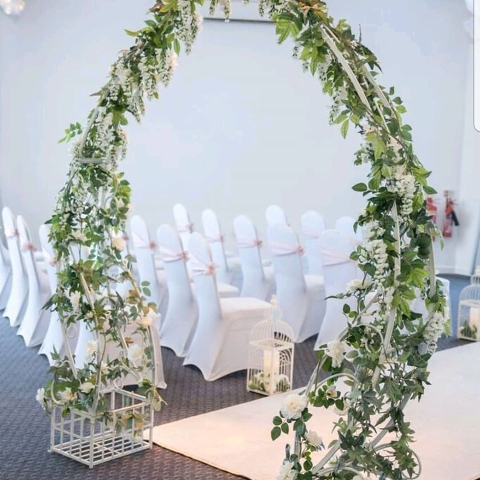 Floral Wedding Aisle Arch