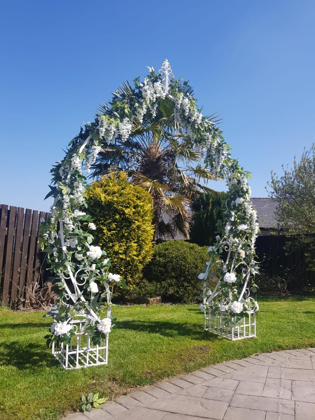 Flower Arch displayed in Garden