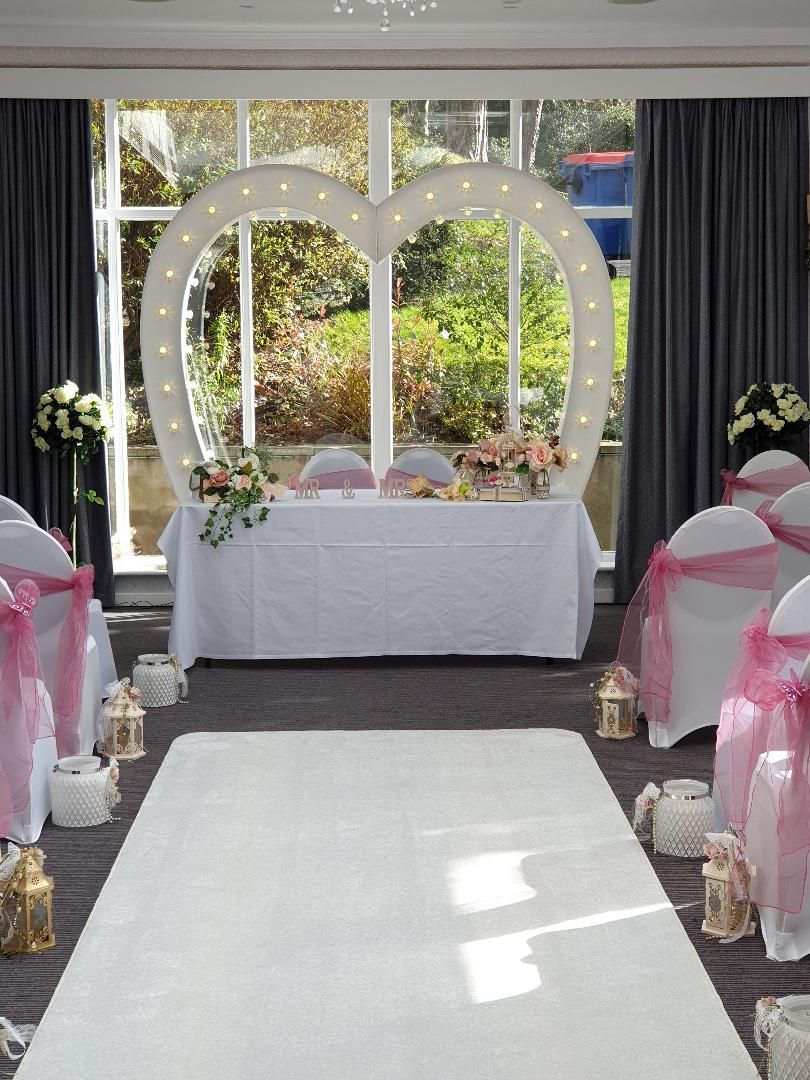 Love Heart Arch Wedding Arch Styling 2