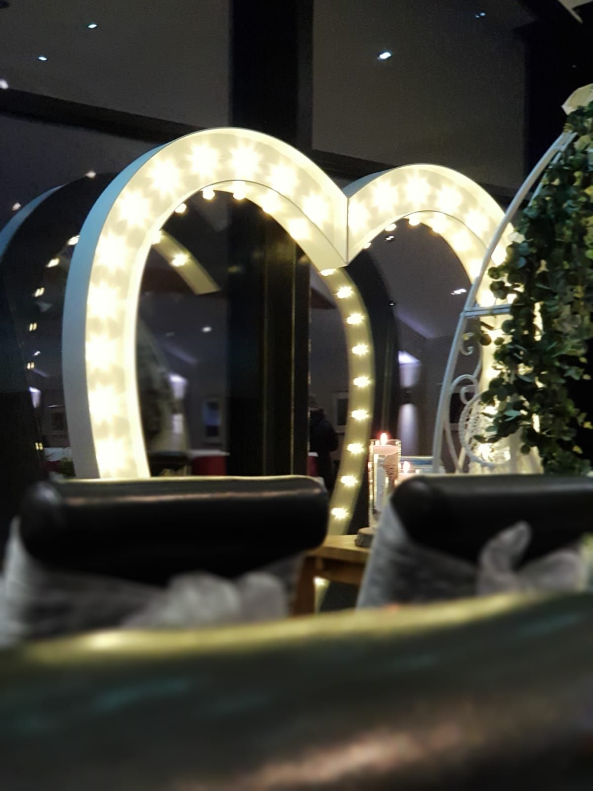 Love Heart Arch Reflected in Window