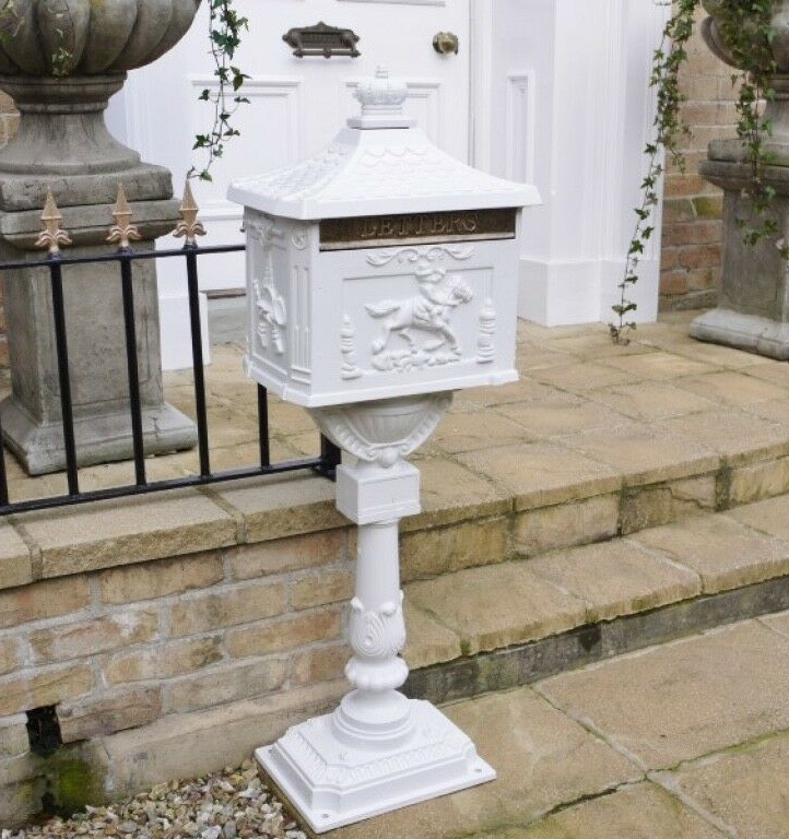 White Wedding Post Box