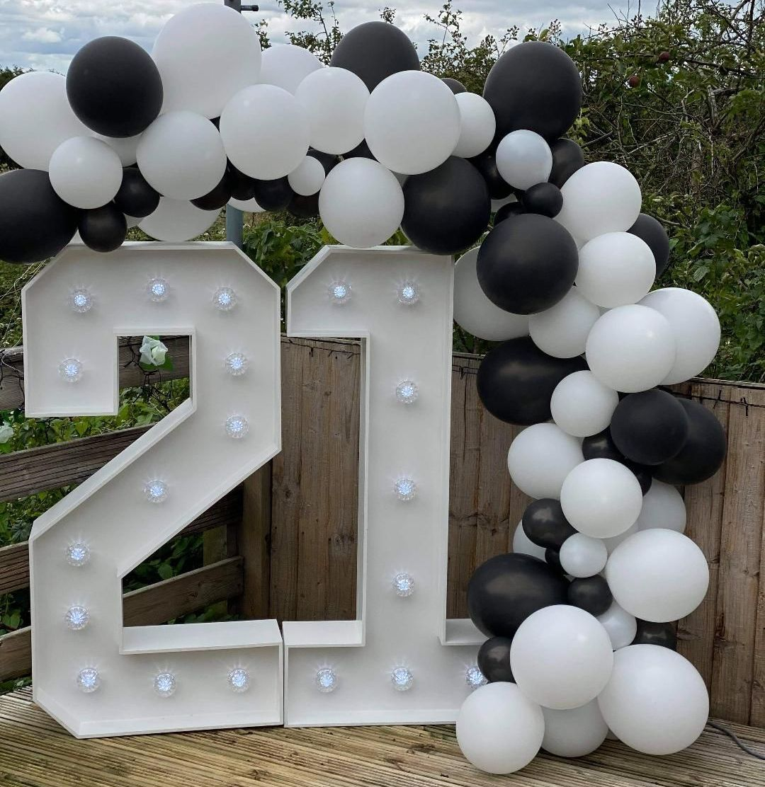 Lockdown Light Up Numbers for a 21st Birthday Party in Heywood