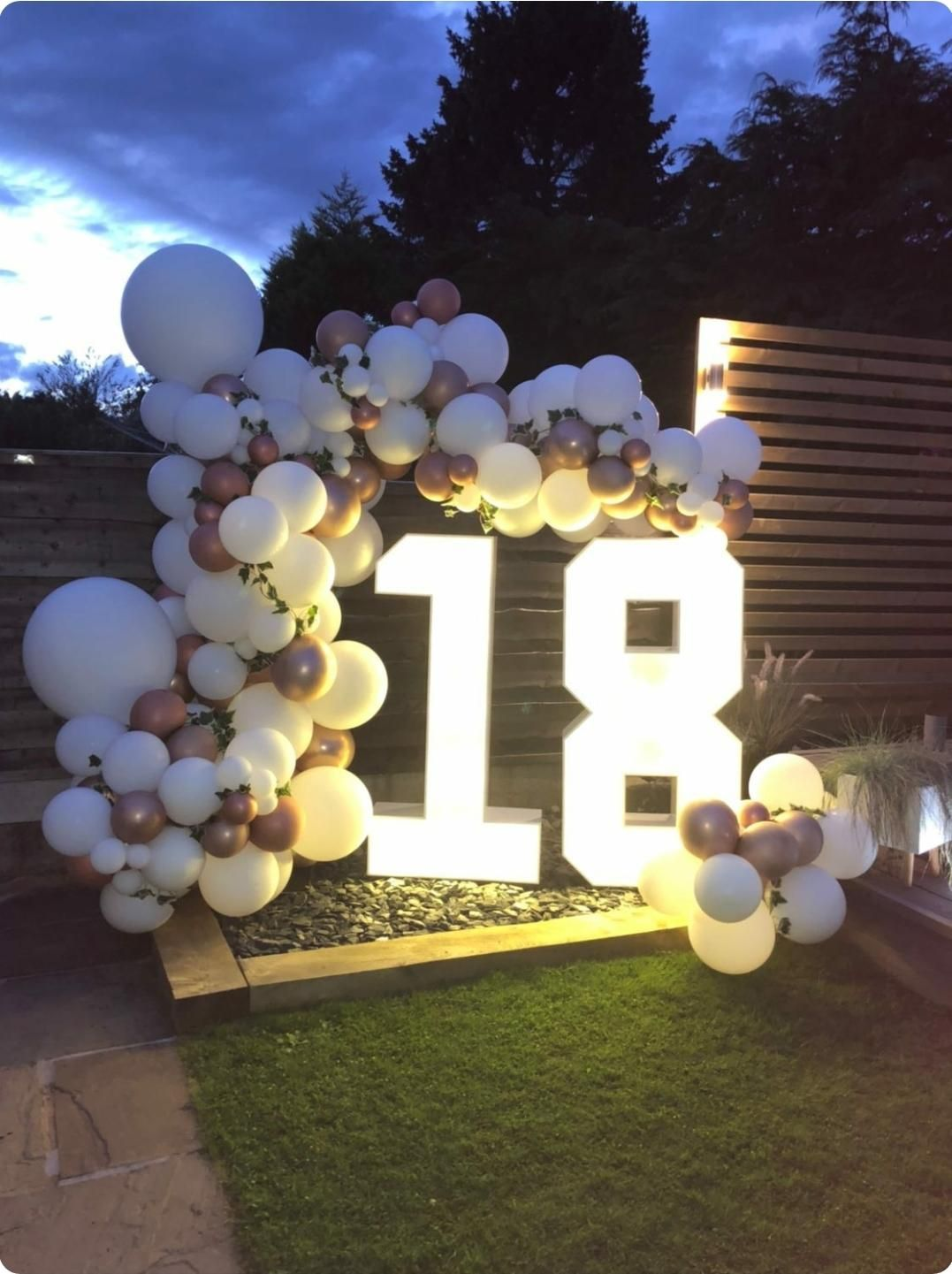 Birthday Light Up Numbers for an Eighteenth Birthday Party in Bury