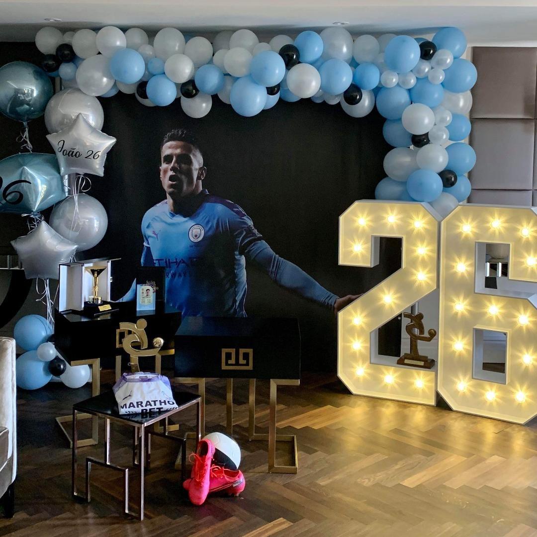 Birthday Light Up Numbers for Manchester City Footballer