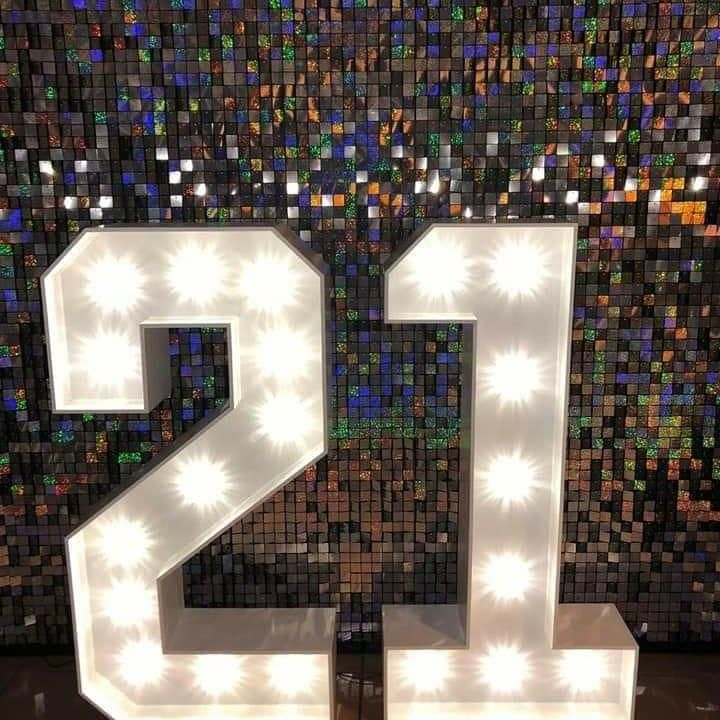 Sequin Shimmer Wall for 21st Birthday Party in Manchester