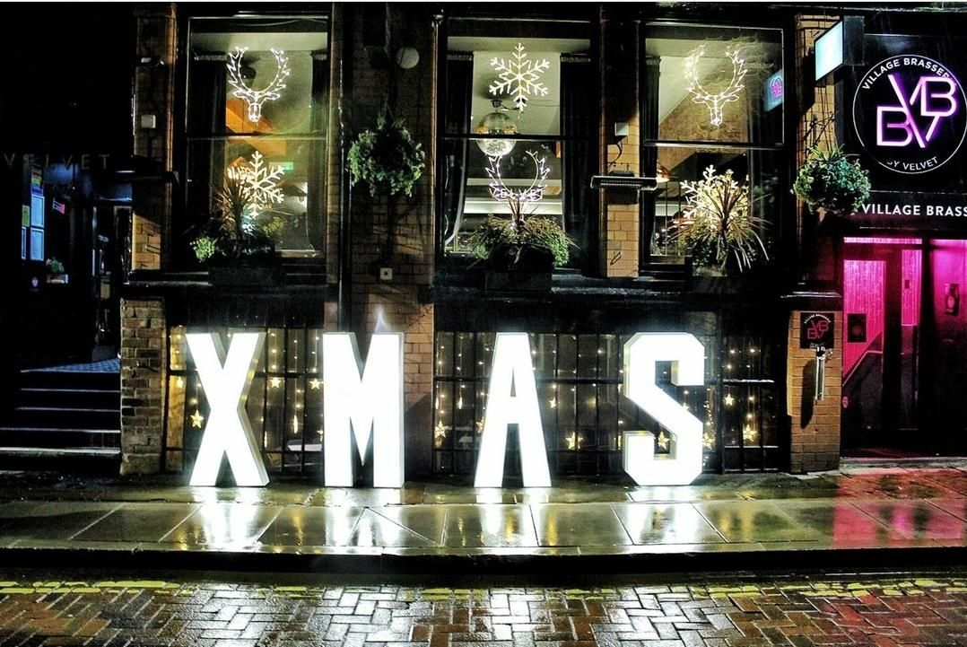 Christmas Light Up Letters for a Promotional Photo Shoot for Velvet Hotel in Manchester for their Xmas display.jpg