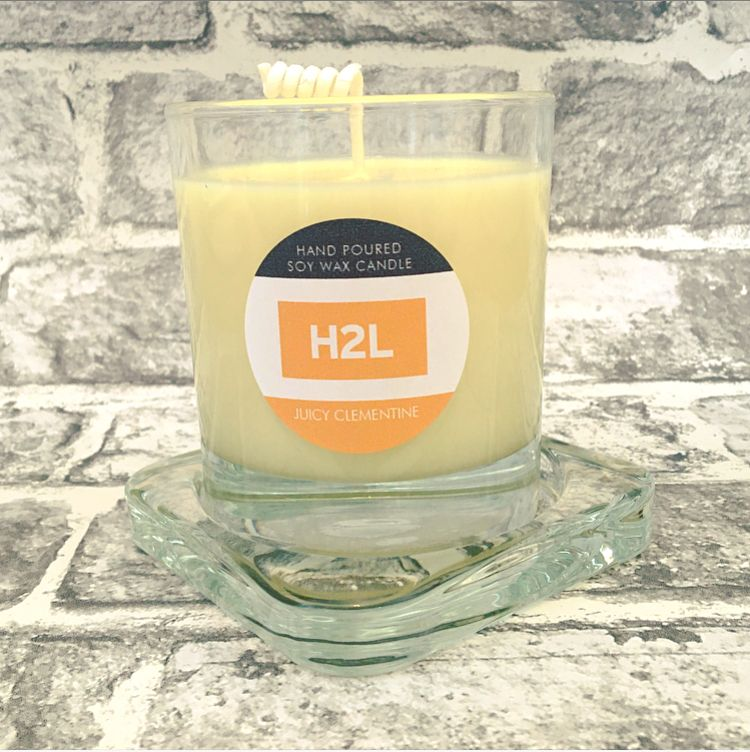 Branded Candle for H2L Lettings