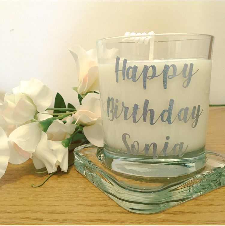 Personalised Scented Soy Wax Candle