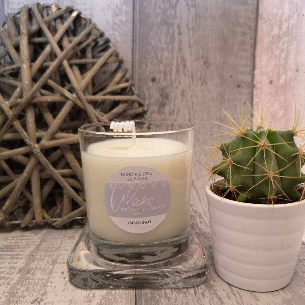 Fresh Linen Natural Soy Candle 200g