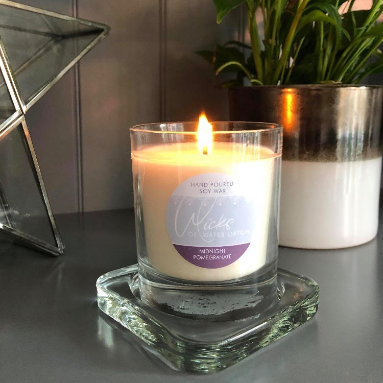 Midnight Pomegranate Natural Soy Candle 200g