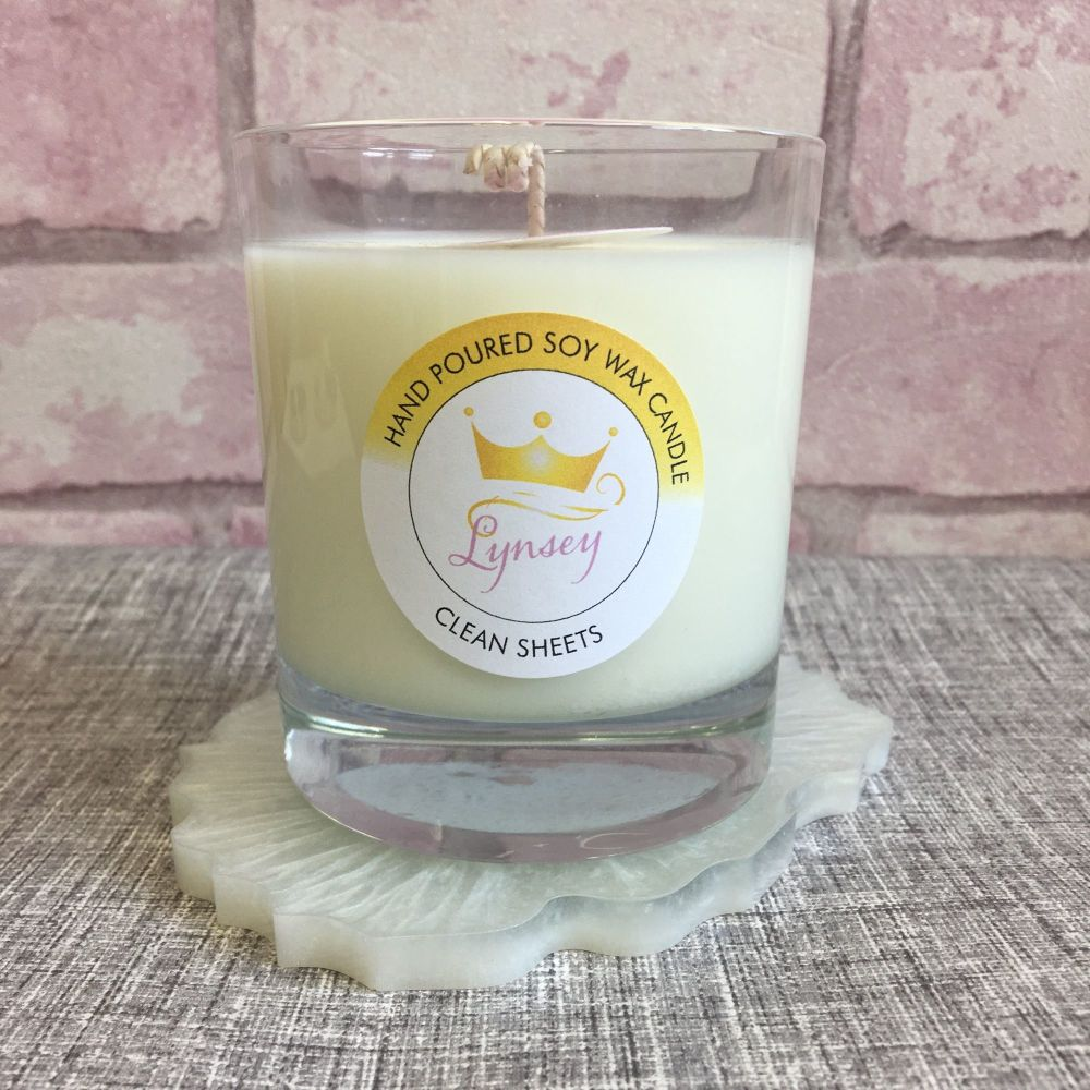 Lynsey Queen Of Clean | CLEAN SHEETS | Natural Soy Candle 200g