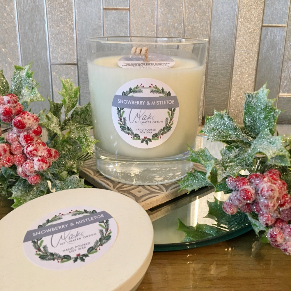 Christmas 2020 | Snowberry & Mistletoe Natural Soy Candle 200g