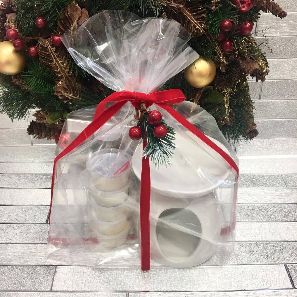 Christmas 2020 | Burner Gift Set - inc a large White Holly Berry Ceramic bu