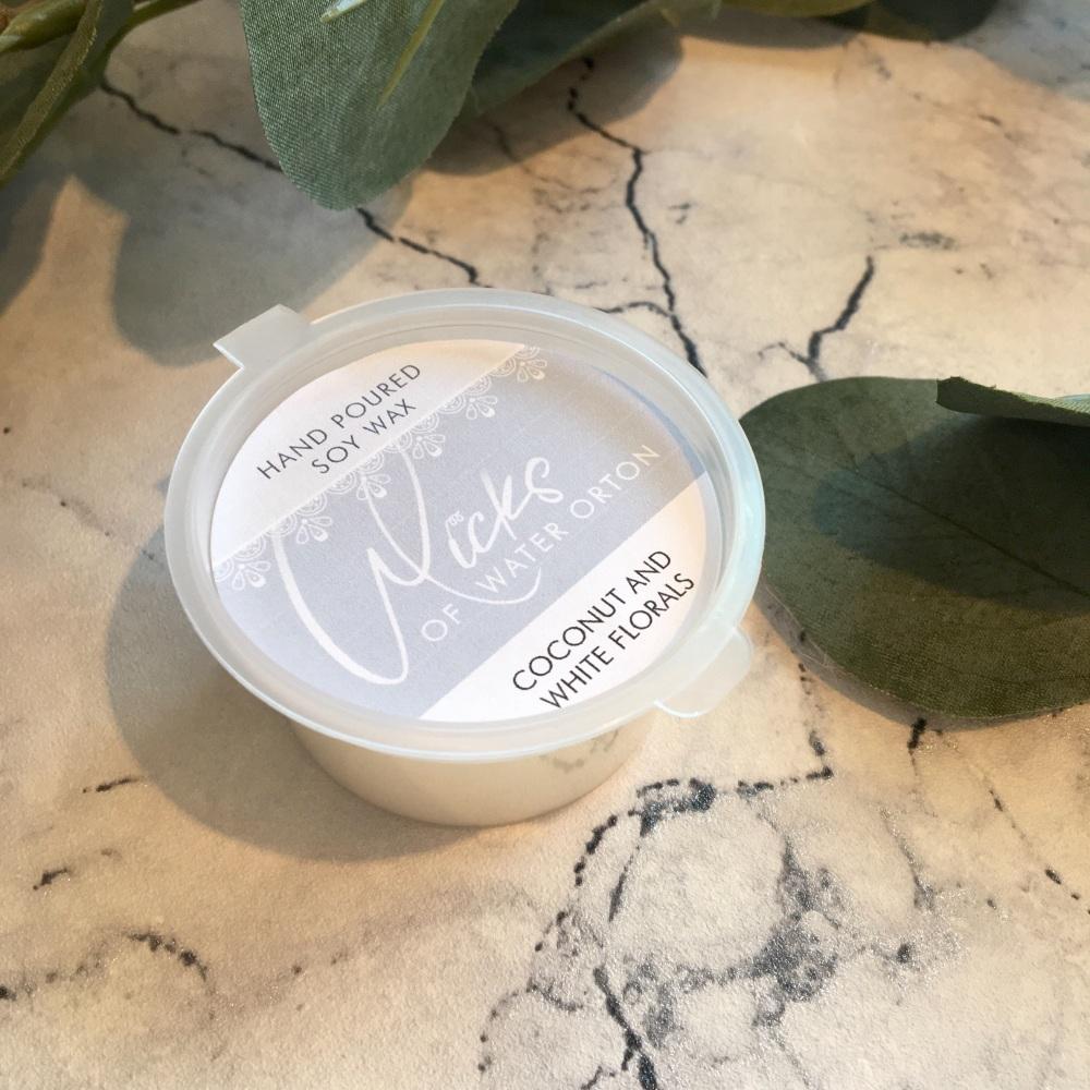 Coconut & White Florals Natural Soy Wax Melt Pot 20g