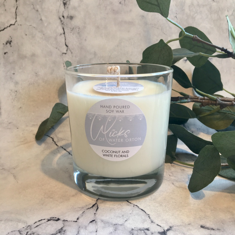 Coconut & White Florals Natural Soy Candle 200g