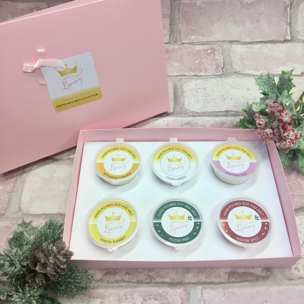 Lynsey Queen Of Clean | Winter Wax Melt Collection | 6 x 20g Soy Wax Melt Pots
