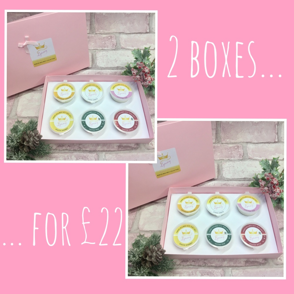 Lynsey Queen Of Clean | Winter Wax Melt Collection x 2 BOXES FOR £22 | 6 x 20g Soy Wax Melt Pots (DOUBLE DEAL)