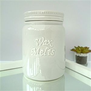 Ceramic Wax Melt Storage Jar - Grey
