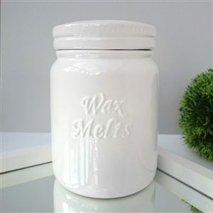 Ceramic Wax Melt Storage Jar - White