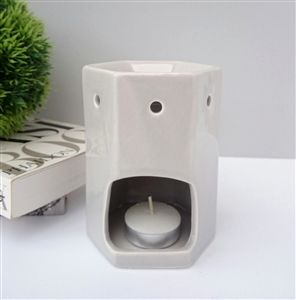 Hexagonal Ceramic Wax Melter - grey