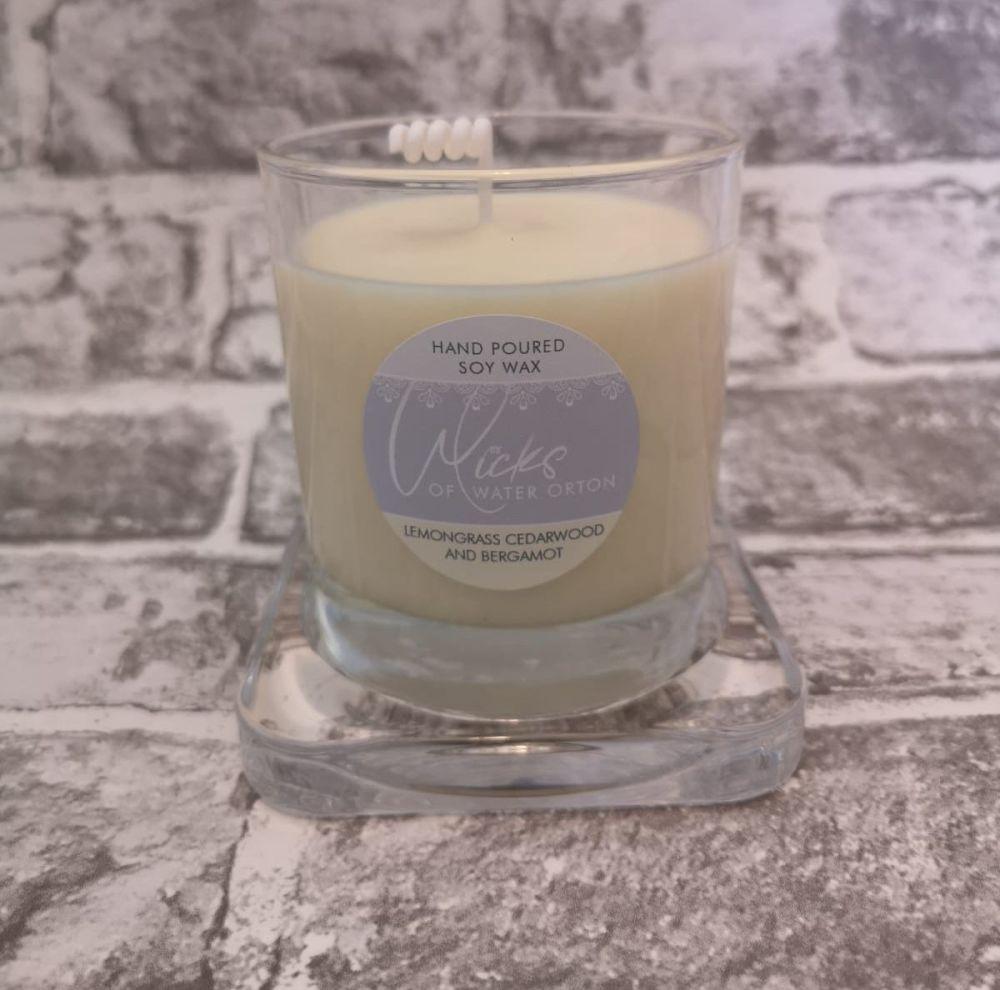 Lemongrass, Cedarwood & Bergamot Natural Soy Candle 200g
