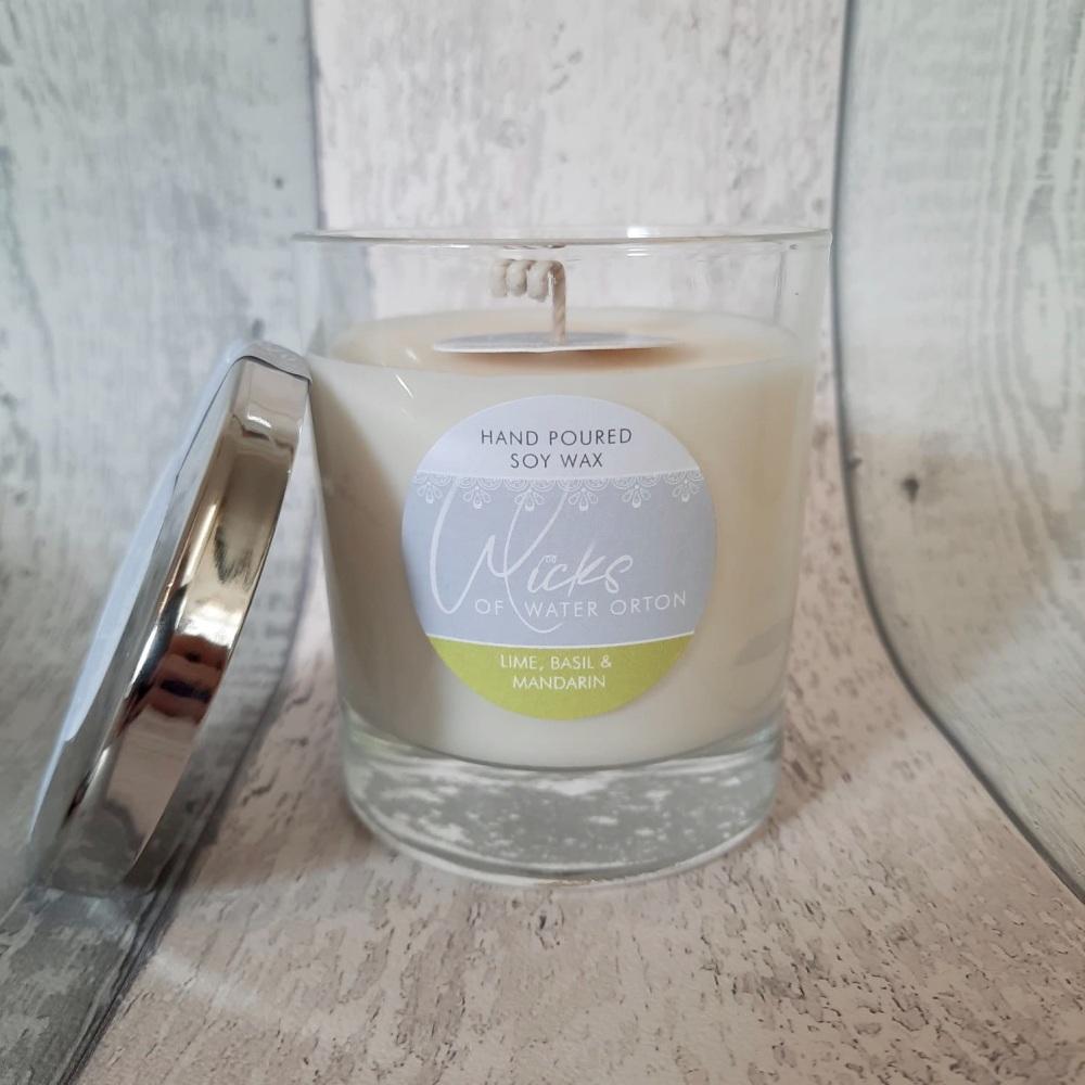 Lime, Basil & Mandarin Natural Soy Candle 200g